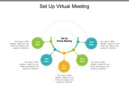 Set Up Virtual Meeting Ppt Powerpoint Presentation Styles Diagrams Cpb