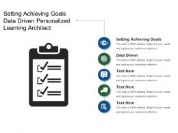 Setting Achieving Goals Data Driven Personalized Learning Architect