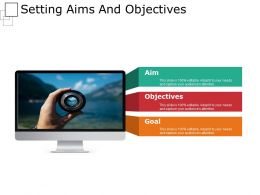Setting Aims And Objectives Powerpoint Slide Clipart