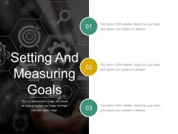 Setting And Measuring Goals Sample Of Ppt Presentation