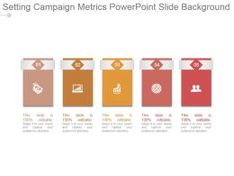 Setting Campaign Metrics Powerpoint Slide Background