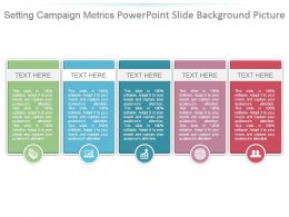 Setting Campaign Metrics Powerpoint Slide Background Picture