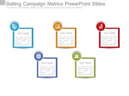 Setting Campaign Metrics Powerpoint Slides