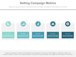 Setting Campaign Metrics Ppt Slides