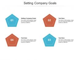 Setting Company Goals Ppt Powerpoint Presentation Layouts Slideshow Cpb