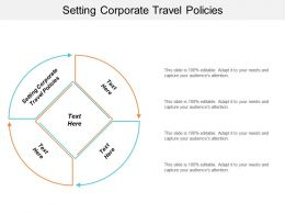 Setting Corporate Travel Policies Ppt Powerpoint Presentation Icon Themes Cpb