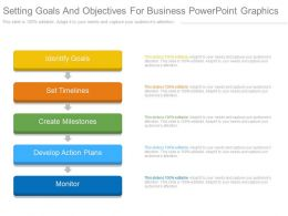 Setting Goals And Objectives For Business Powerpoint Graphics