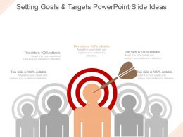 Setting Goals And Targets Powerpoint Slide Ideas