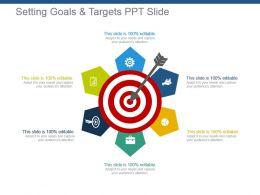 Setting Goals And Targets Ppt Slide