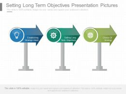 Setting Long Term Objectives Presentation Pictures