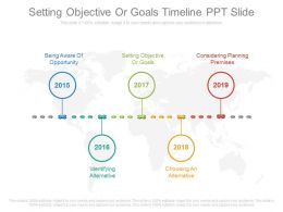 Setting Objective Or Goals Timeline Ppt Slide