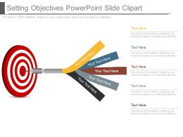 Setting Objectives Powerpoint Slide Clipart