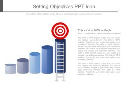 Setting Objectives Ppt Icon