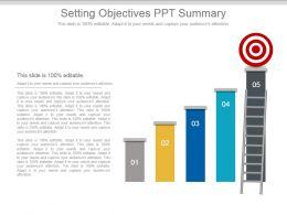 Setting Objectives Ppt Summary