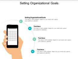 Setting Organizational Goals Ppt Powerpoint Presentation Layouts Portrait Cpb