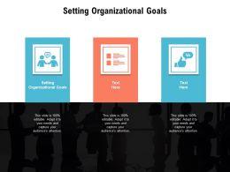 Setting Organizational Goals Ppt Powerpoint Presentation Model Example Cpb