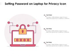 Setting Password On Laptop For Privacy Icon