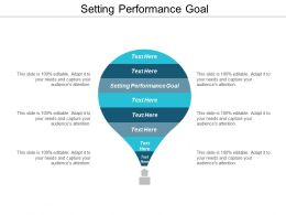 Setting Performance Goal Ppt Powerpoint Presentation File Examples Cpb