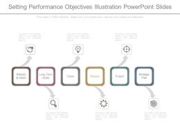 Setting Performance Objectives Illustration Powerpoint Slides