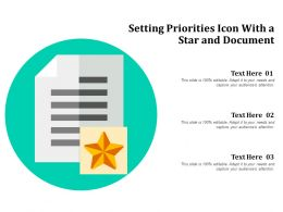 Setting Priorities Icon With A Star And Document