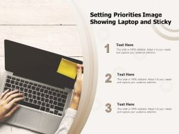 Setting Priorities Image Showing Laptop And Sticky