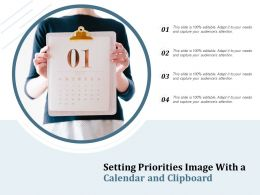 Setting Priorities Image With A Calendar And Clipboard