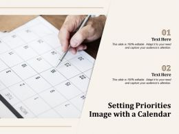 Setting Priorities Image With A Calendar
