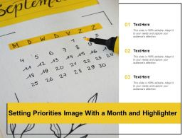 Setting Priorities Image With A Month And Highlighter