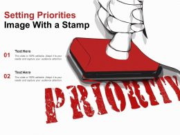 Setting Priorities Image With A Stamp