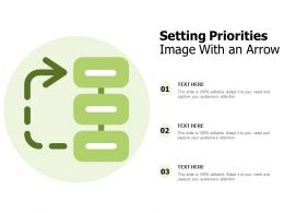 Setting Priorities Image With An Arrow