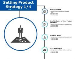 Setting Product Strategy 1 4 Ppt Powerpoint Presentation Gallery Deck