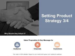 Setting Product Strategy Audience Ppt Powerpoint Presentation Infographics Outfit