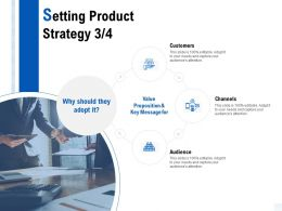 Setting Product Strategy Audience Ppt Powerpoint Presentation Model Designs Download