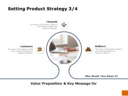 Setting Product Strategy Audience Ppt Powerpoint Presentation Show Clipart