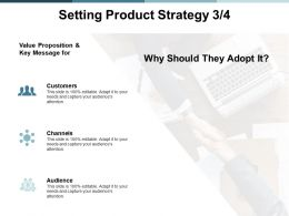Setting Product Strategy Audience Ppt Powerpoint Presentation Summary Tips