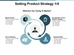 Setting Product Strategy Business Model Ppt Powerpoint Presentation Infographics Model