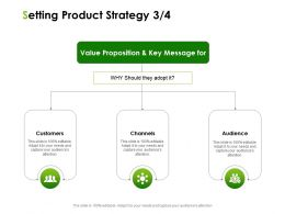 Setting Product Strategy Customers Ppt Powerpoint Presentation Layouts Display
