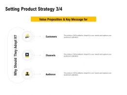 Setting Product Strategy Customers Ppt Powerpoint Presentation Summary Rules
