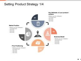 Setting Product Strategy Market Position Ppt Powerpoint Presentation Layouts