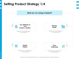Setting Product Strategy Market Ppt Powerpoint Presentation Layouts Display