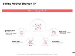 Setting Product Strategy Model Ppt Powerpoint Presentation File Structure