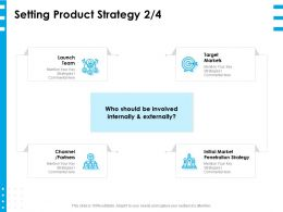 Setting Product Strategy Partners Ppt Powerpoint Presentation Layouts Inspiration