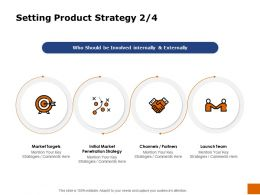 Setting Product Strategy Penetration Ppt Powerpoint Presentation Pictures Smartart
