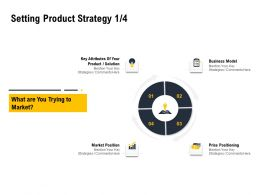 Setting Product Strategy Position Ppt Powerpoint Presentation Infographic Template Guide
