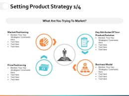 Setting Product Strategy Ppt Powerpoint Presentation Gallery Infographics