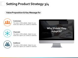 Setting Product Strategy Ppt Powerpoint Presentation Gallery Inspiration