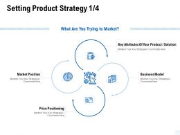 Setting Product Strategy Solution Ppt Powerpoint Presentation Portfolio Templates