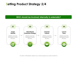 Setting Product Strategy Target Markets Ppt Powerpoint Presentation Infographics Topics