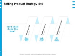 Setting Product Strategy Tools Ppt Powerpoint Presentation Layouts Maker
