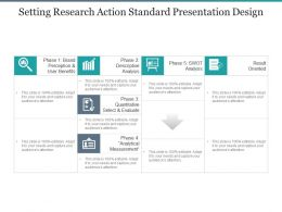 Setting Research Action Standard Presentation Design